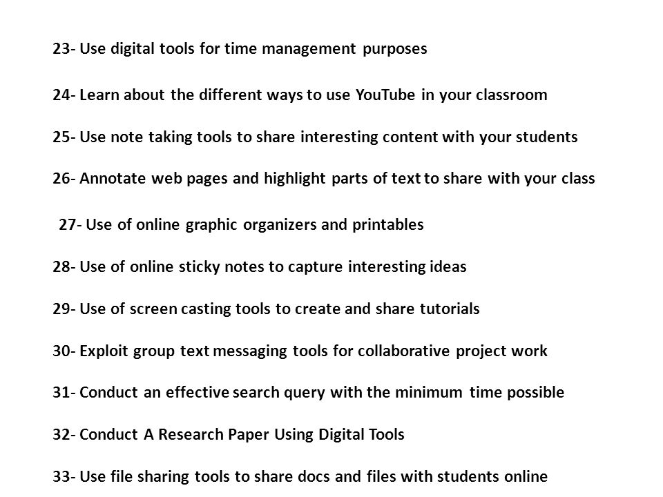 23- Use digital tools for time management purposes