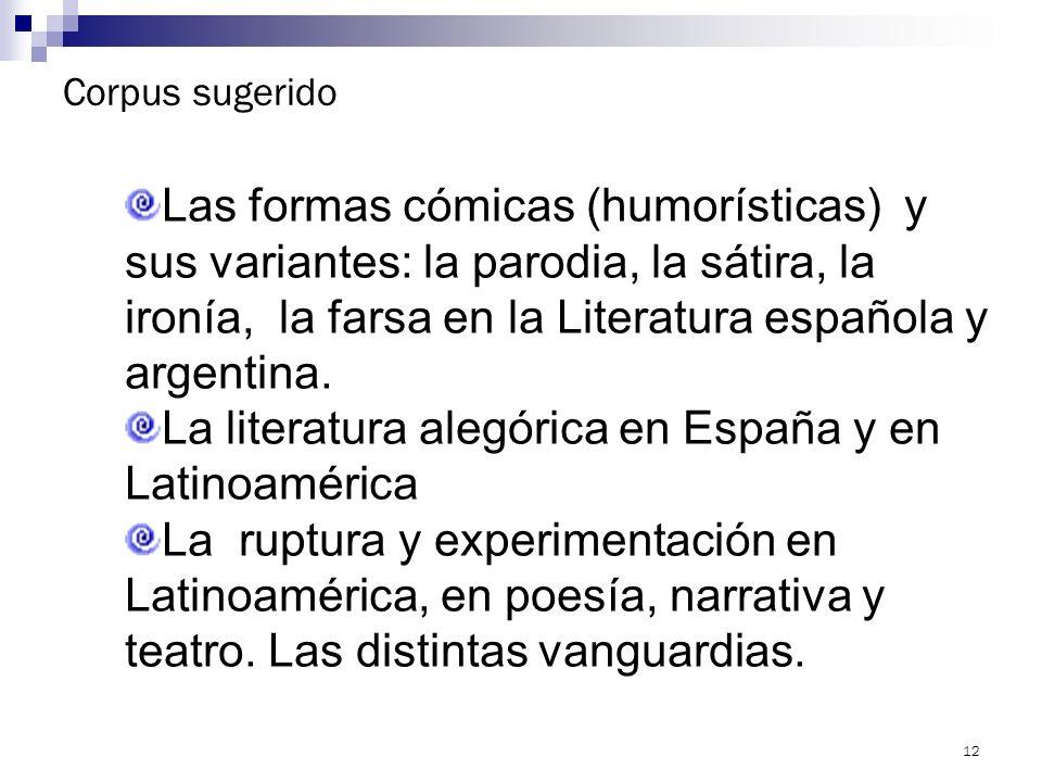 La literatura alegórica en España y en Latinoamérica