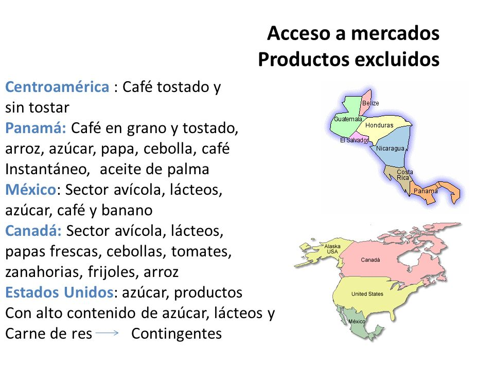 Acceso a mercados Productos excluidos
