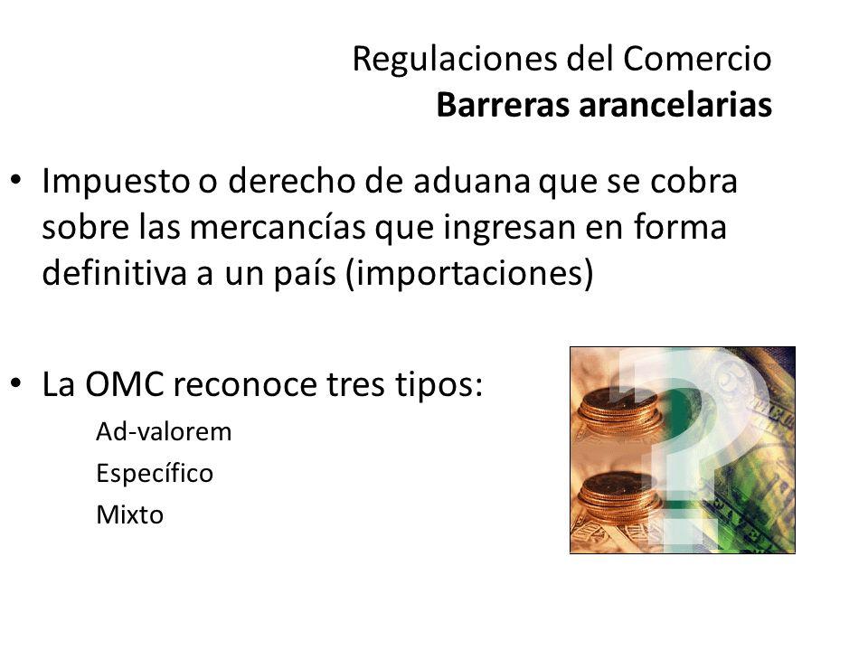 Regulaciones del Comercio Barreras arancelarias