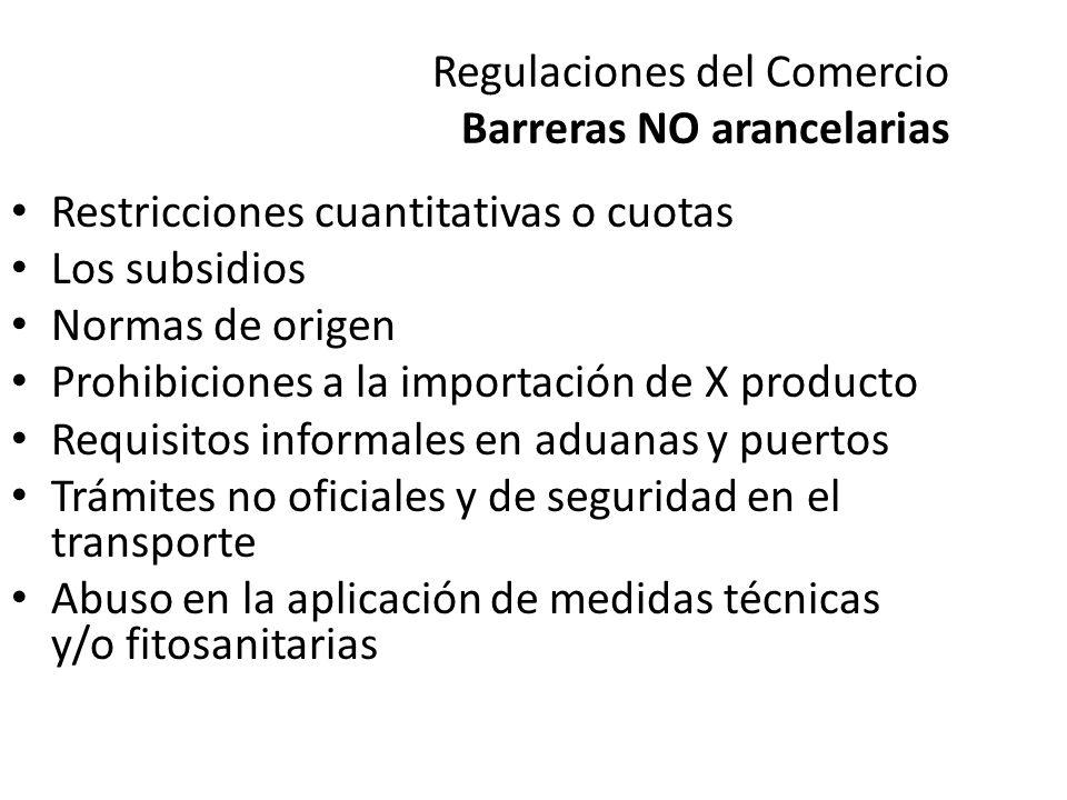 Regulaciones del Comercio Barreras NO arancelarias