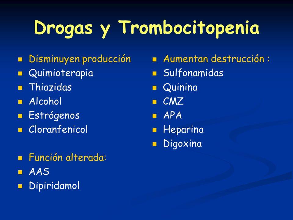 Drogas y Trombocitopenia