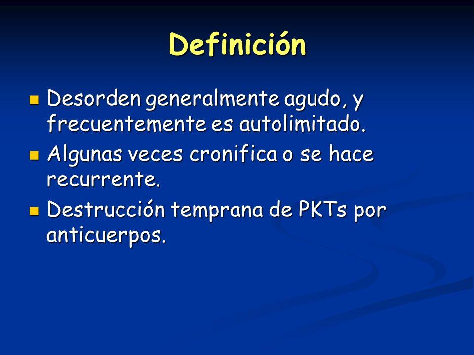 Definición Desorden generalmente agudo, y frecuentemente es autolimitado. Algunas veces cronifica o se hace recurrente.