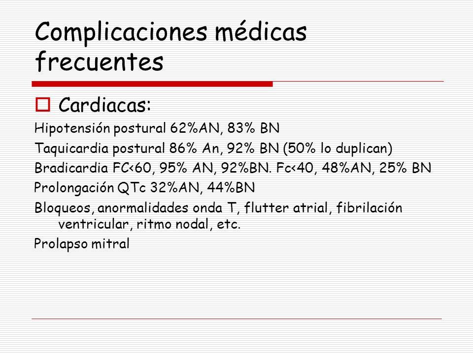 Complicaciones médicas frecuentes