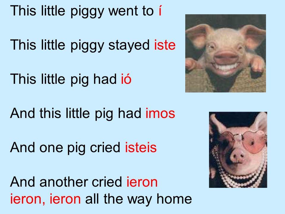 This little piggy went to í