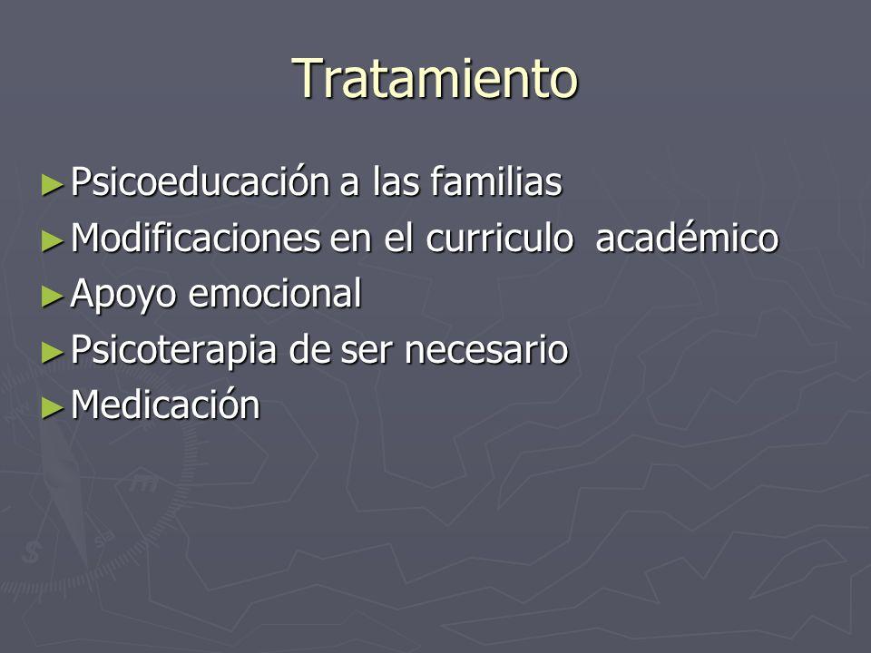 Tratamiento Psicoeducación a las familias