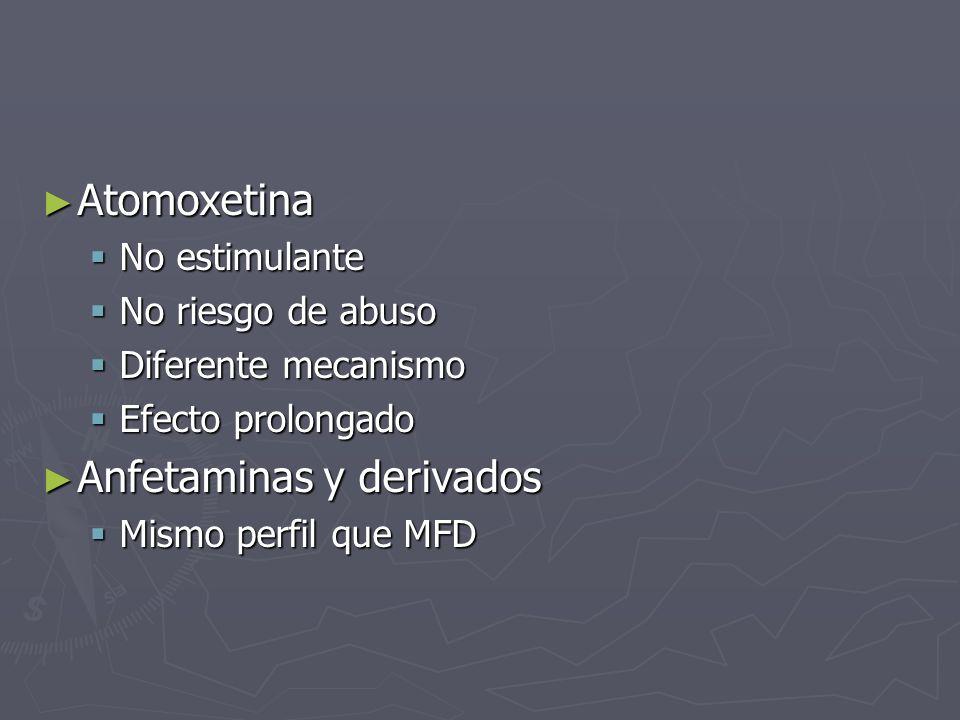 Anfetaminas y derivados