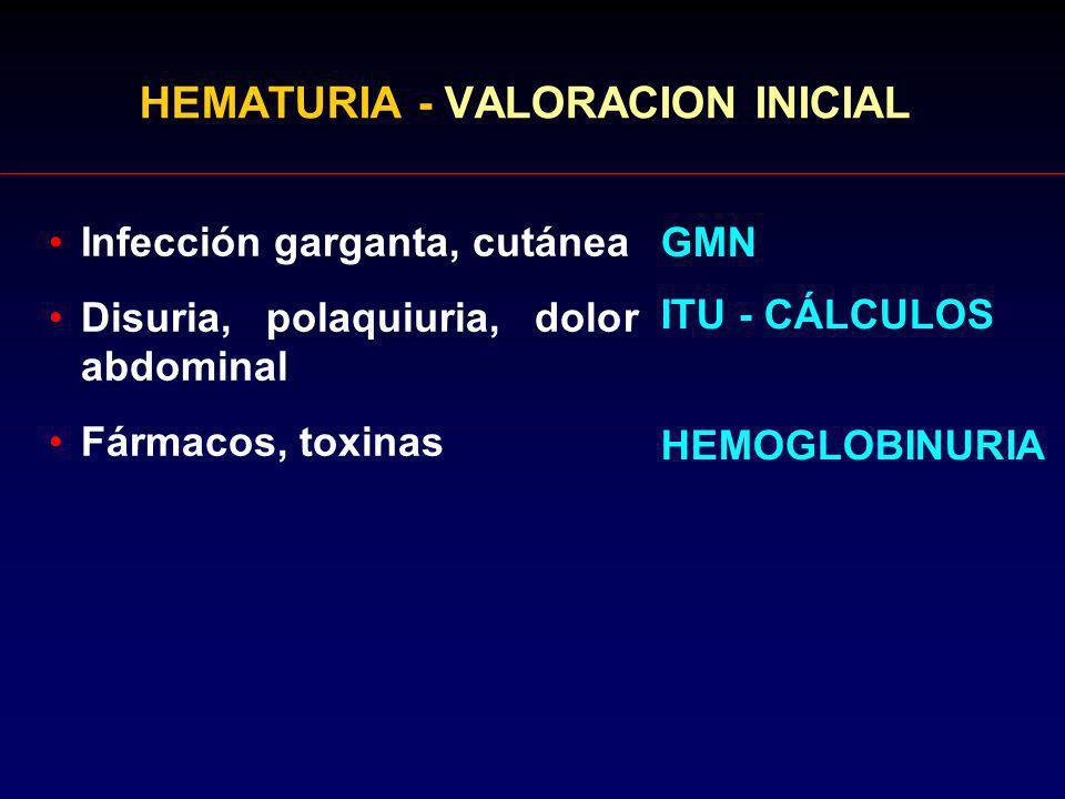HEMATURIA - VALORACION INICIAL