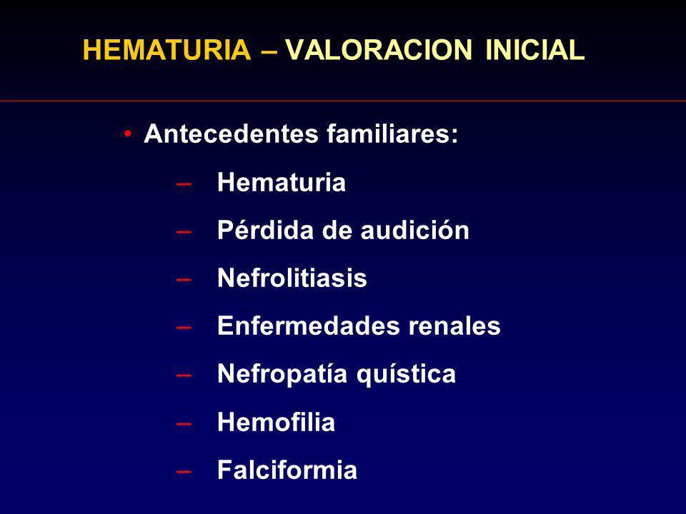 HEMATURIA – VALORACION INICIAL