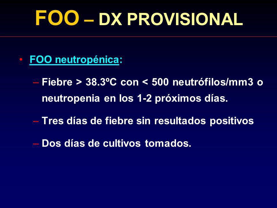 FOO – DX PROVISIONAL FOO neutropénica: