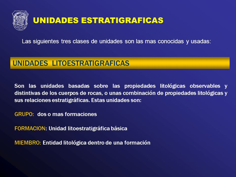 UNIDADES ESTRATIGRAFICAS