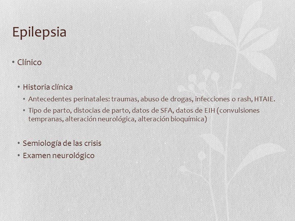 Epilepsia Clínico Historia clínica Semiología de las crisis