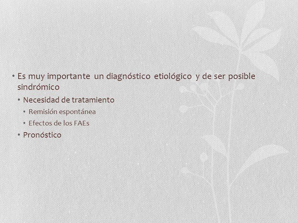 Es muy importante un diagnóstico etiológico y de ser posible sindrómico