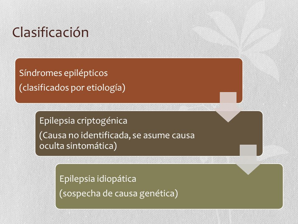 Clasificación Síndromes epilépticos (clasificados por etiología)