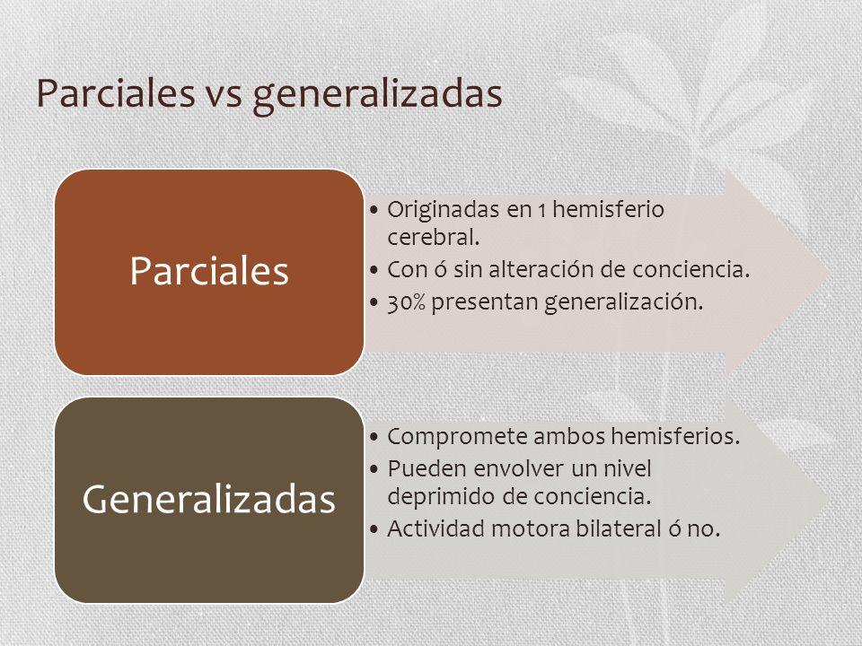 Parciales vs generalizadas