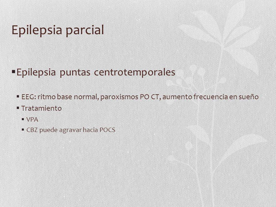 Epilepsia parcial Epilepsia puntas centrotemporales