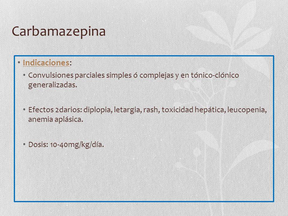 Carbamazepina Indicaciones: