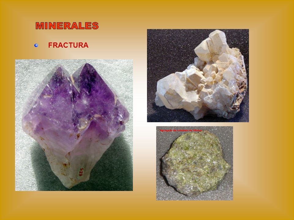MINERALES FRACTURA