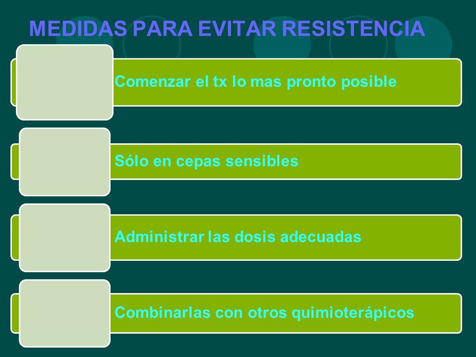 MEDIDAS PARA EVITAR RESISTENCIA