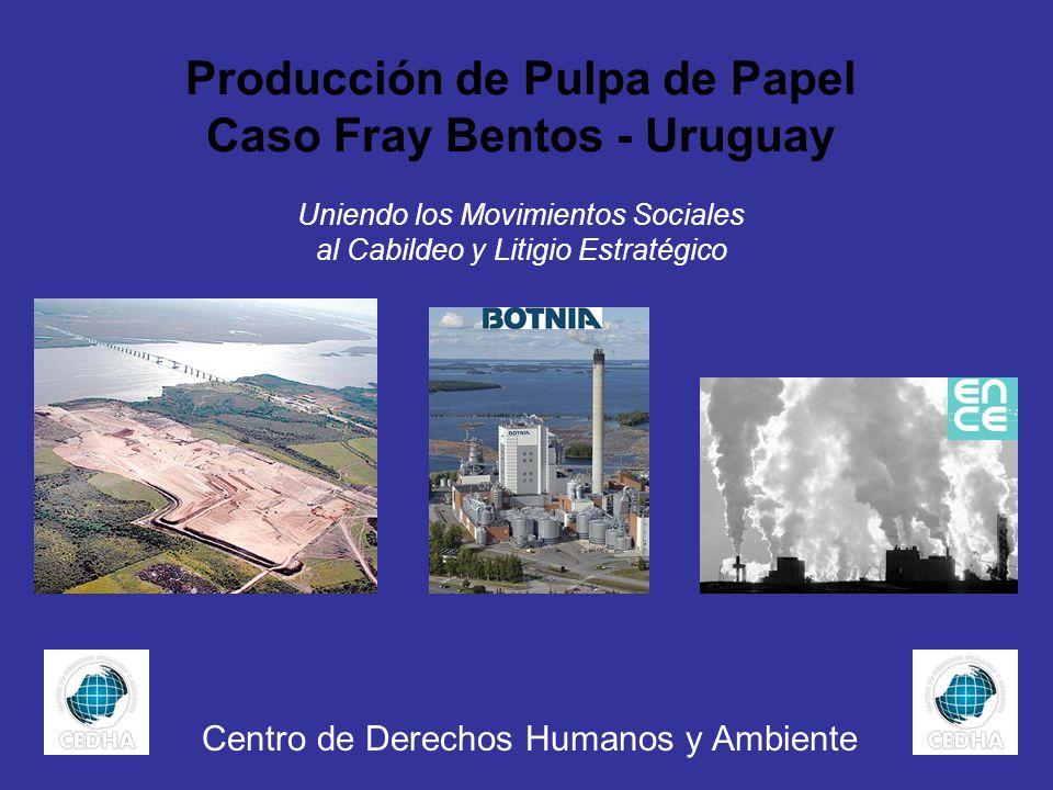 Producción de Pulpa de Papel Caso Fray Bentos - Uruguay