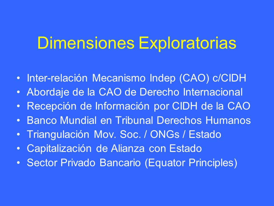 Dimensiones Exploratorias