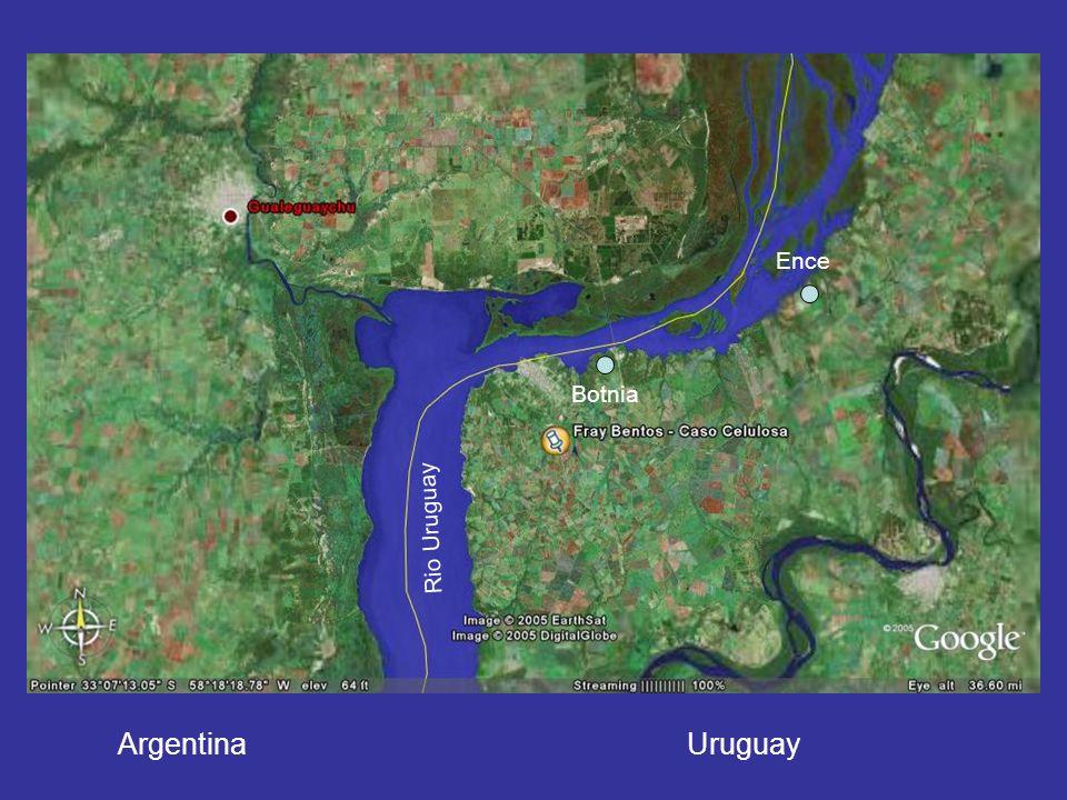 Ence Botnia Rio Uruguay Argentina Uruguay