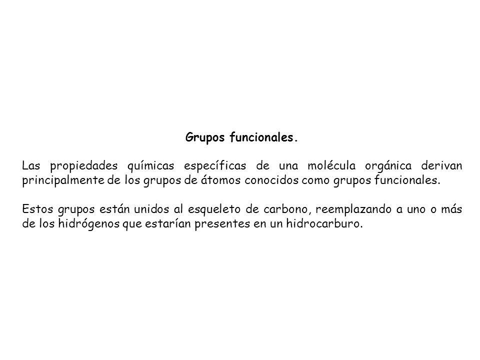 Grupos funcionales.