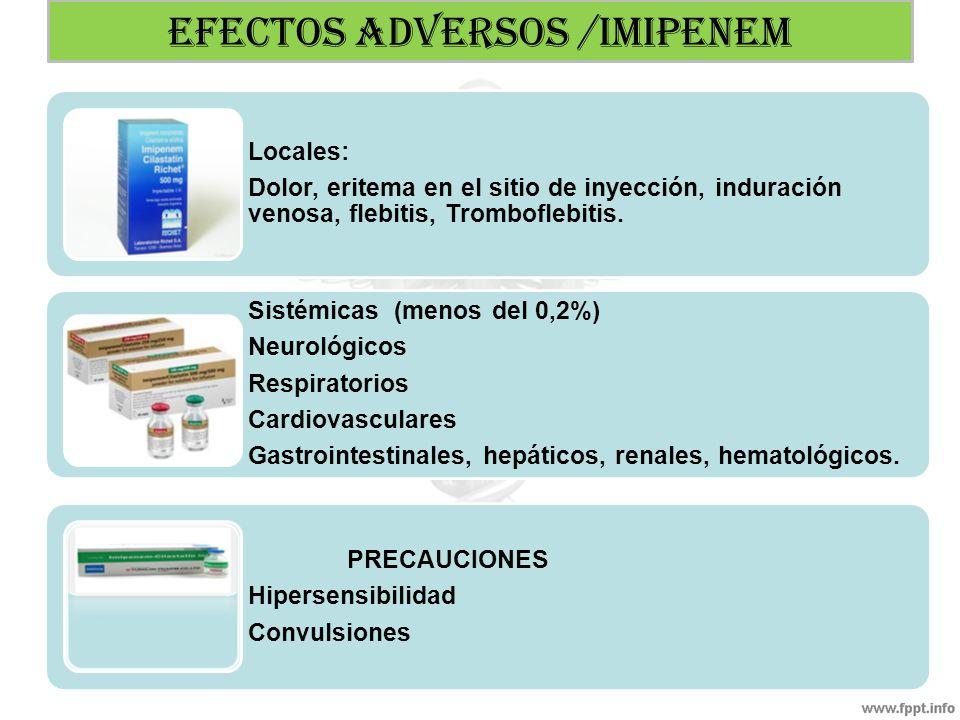 EFECTOS ADVERSOS /IMIPENEM