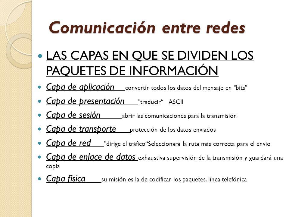 Comunicación entre redes