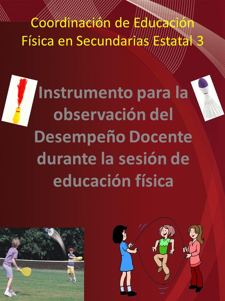 Coordinación de Educación Física en Secundarias Estatal 3
