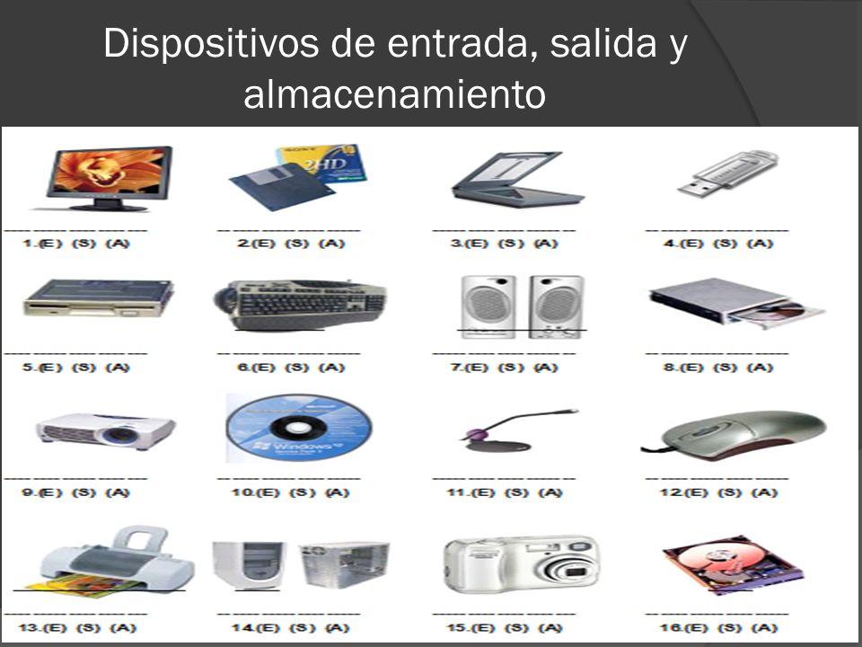 Dispositivos de entrada, salida y almacenamiento