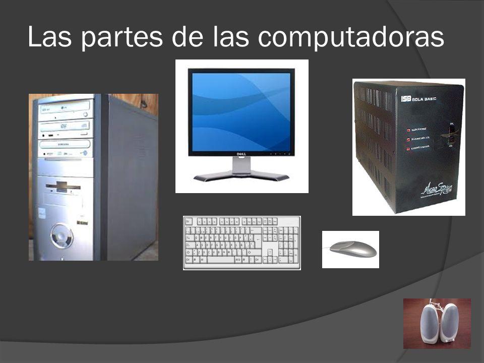 Las partes de las computadoras