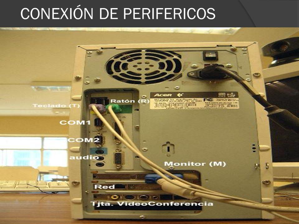 CONEXIÓN DE PERIFERICOS