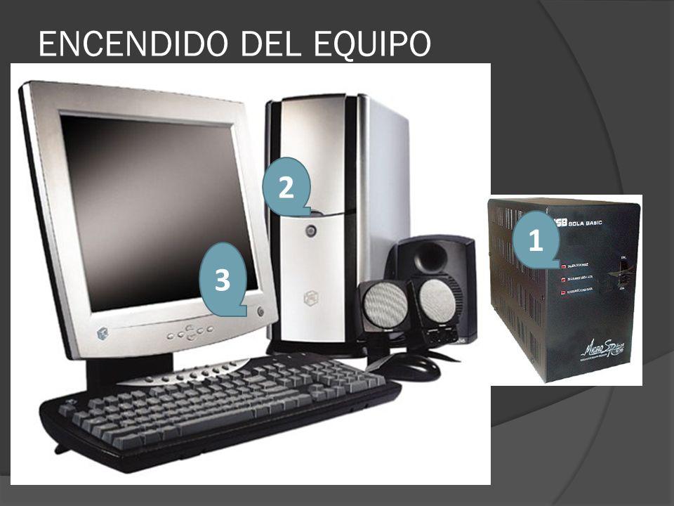ENCENDIDO DEL EQUIPO 2 1 3