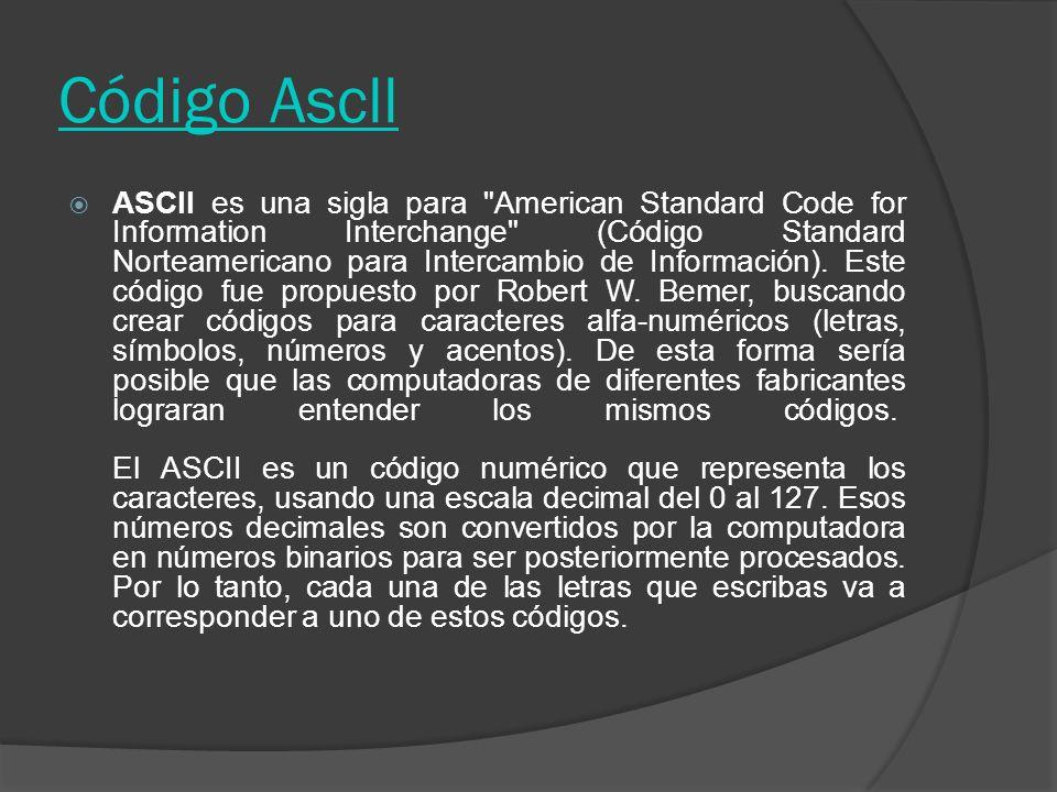 Código Ascll