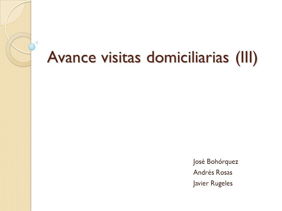 Avance visitas domiciliarias (III)