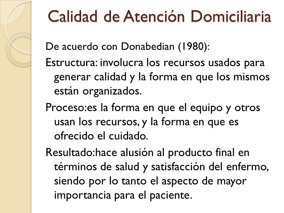 Calidad de Atención Domiciliaria