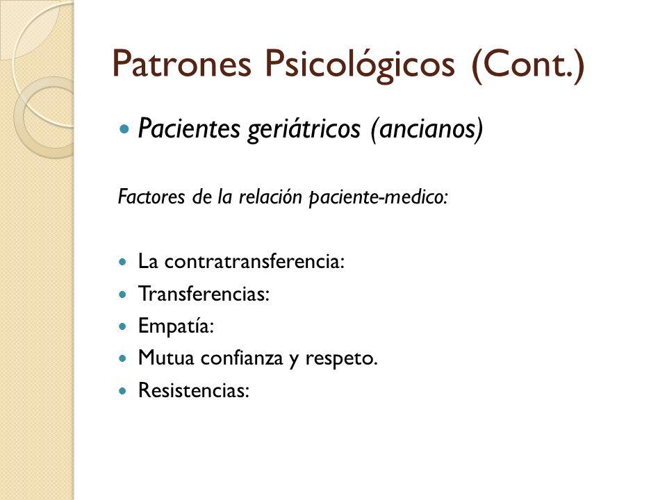 Patrones Psicológicos (Cont.)