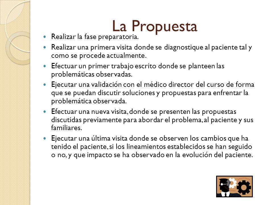 La Propuesta Realizar la fase preparatoria.