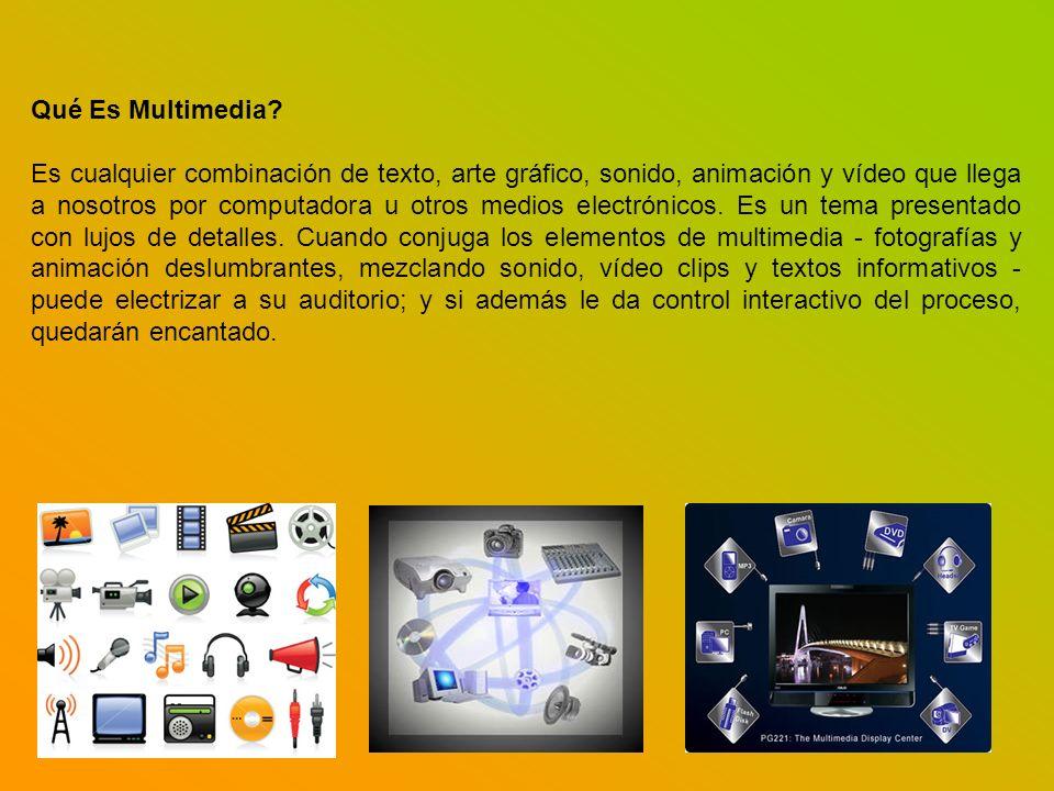 Qué Es Multimedia