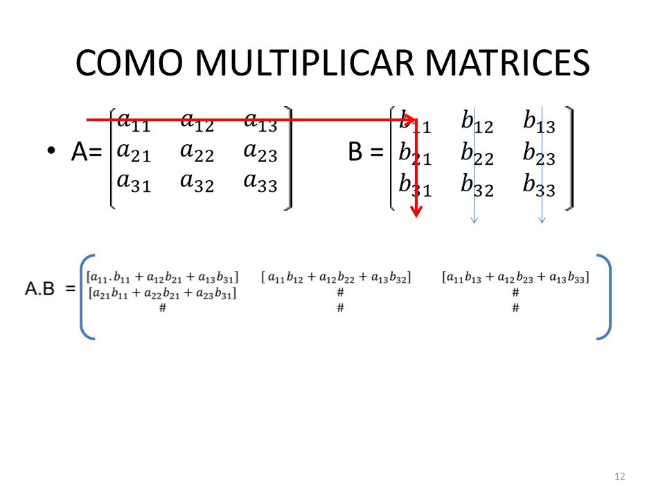 COMO MULTIPLICAR MATRICES