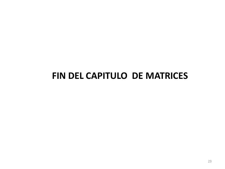 FIN DEL CAPITULO DE MATRICES