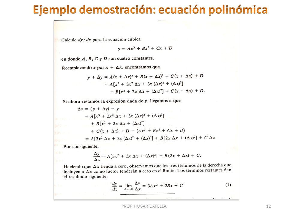 Ejemplo demostración: ecuación polinómica