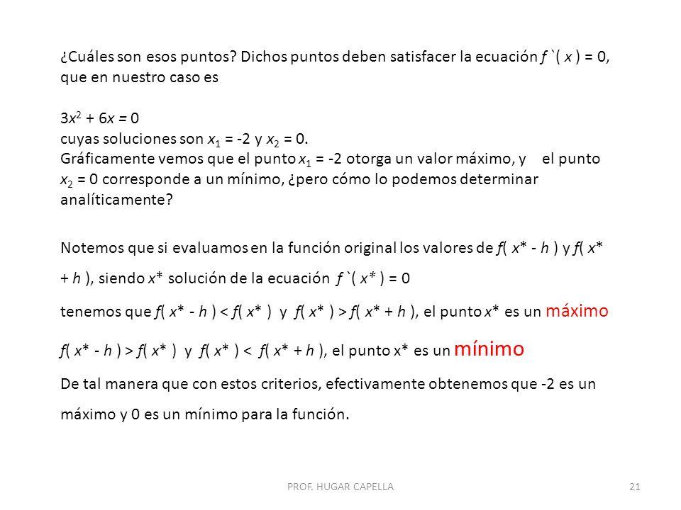 cuyas soluciones son x1 = -2 y x2 = 0.