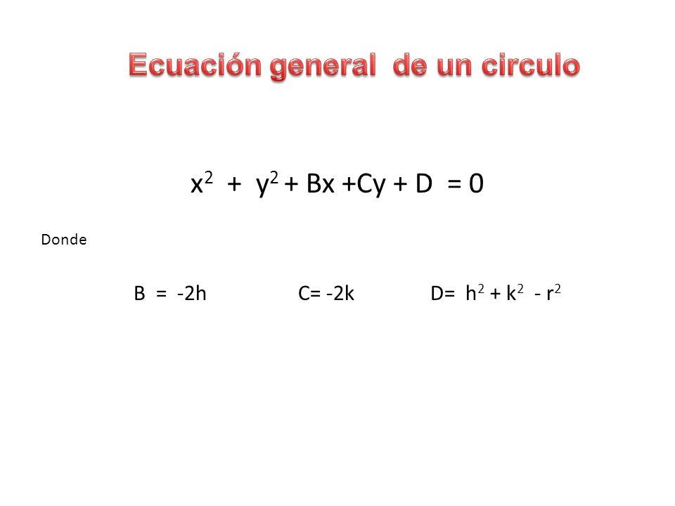 Ecuación general de un circulo