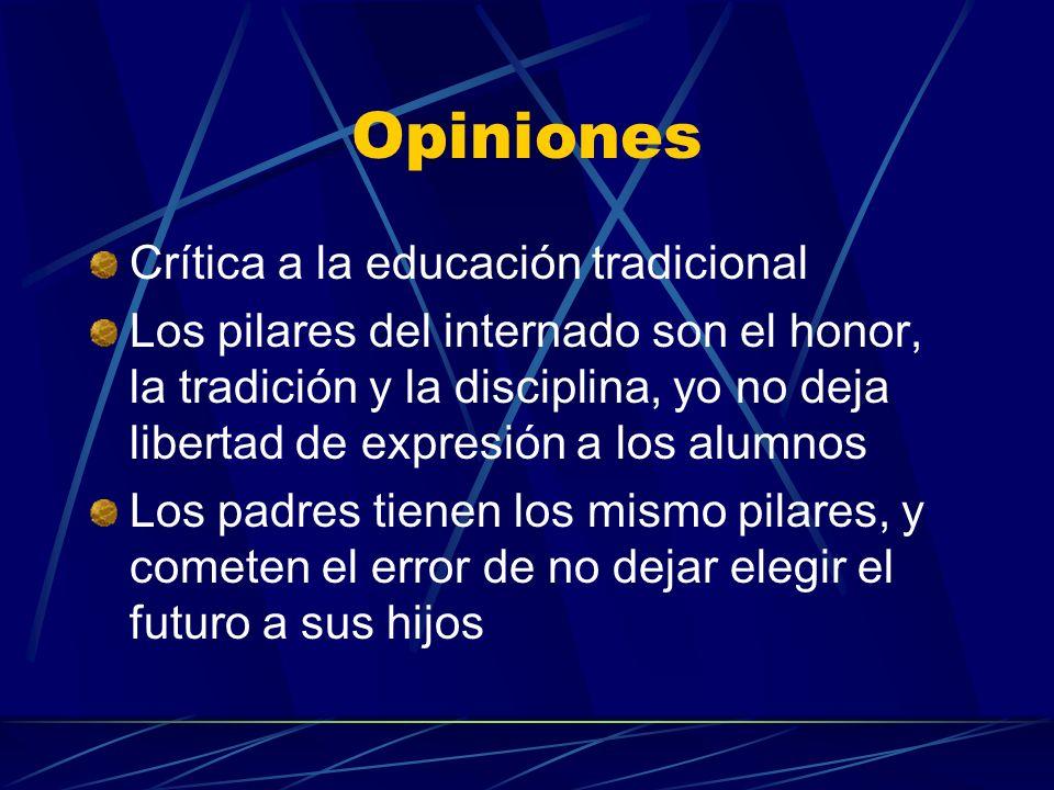 Opiniones Crítica a la educación tradicional
