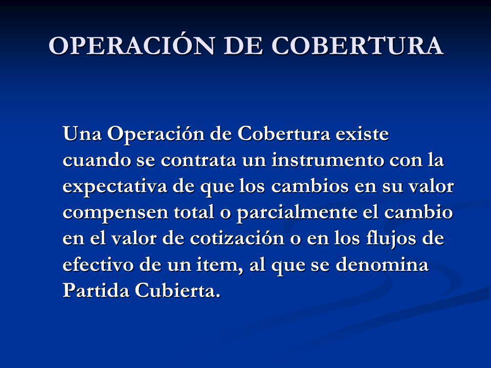 OPERACIÓN DE COBERTURA