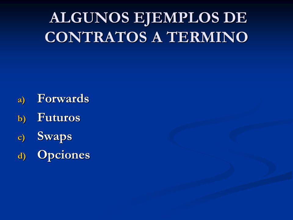 ALGUNOS EJEMPLOS DE CONTRATOS A TERMINO