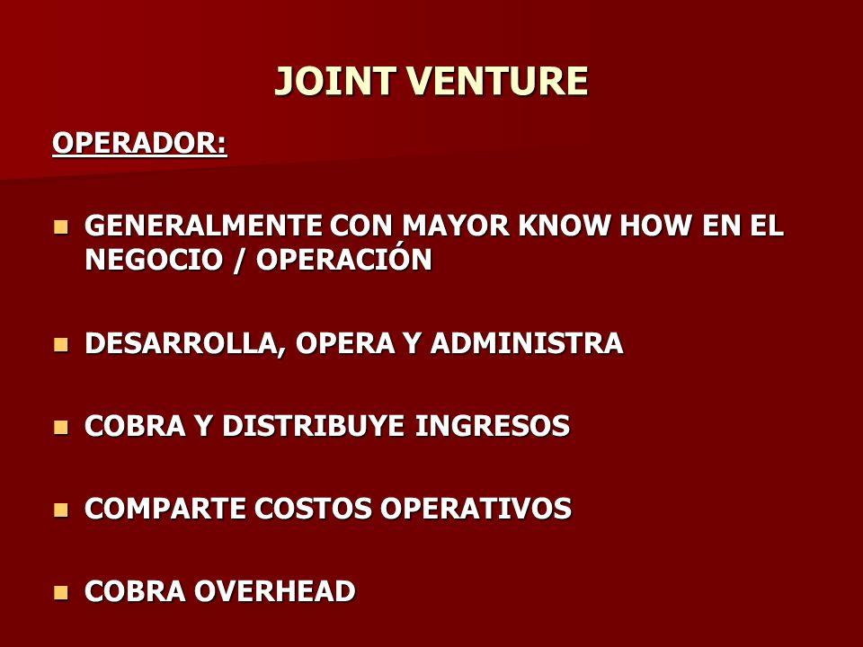 JOINT VENTURE OPERADOR: