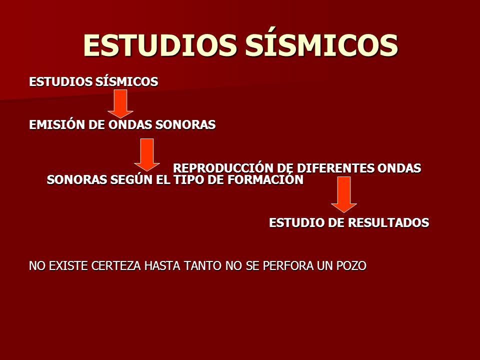 ESTUDIOS SÍSMICOS ESTUDIOS SÍSMICOS EMISIÓN DE ONDAS SONORAS